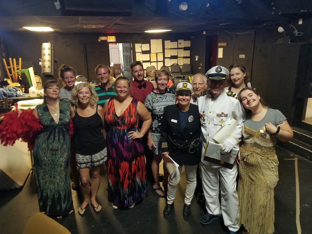 The MMN Players, featuring troupe members (L to R): Carol Rich, Emma Landvatter, Diana Blondeau, Ryan Firment, Alayna Belshe, Jonathan Hawkes, Monique Schmidt, Bonnie Erb, Stu Wechter, Julie Baber,Rob Kunkel, and Jennifer Arellano