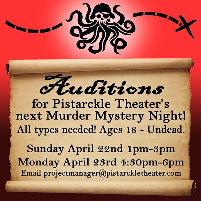 #Audition for our next #MurderMystery ! #actorslife #Tillettgardens #stthomas #pirates #theater #theatre #pistarckletheater #mystery #artsandculture