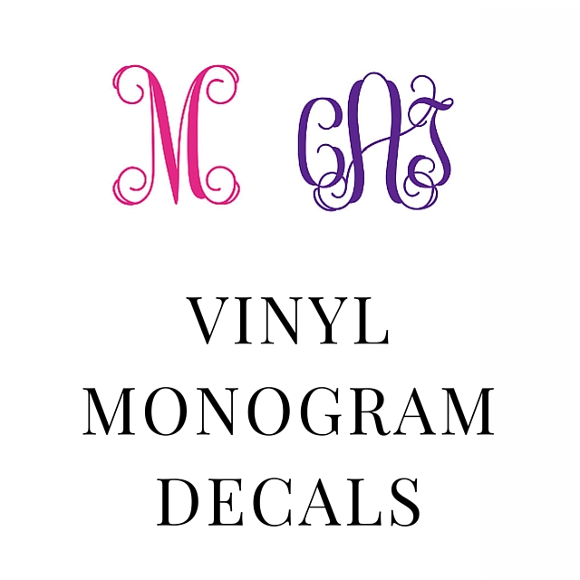 SHOP VINYL MONOGRAM DECALS