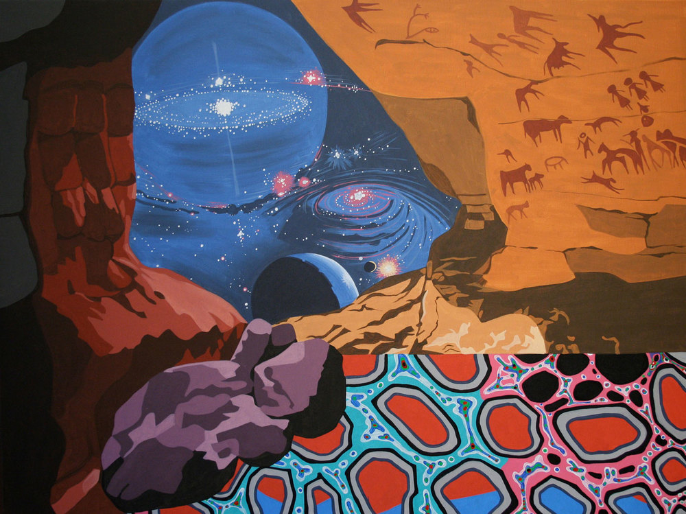 "Galactica, acrylic on canvas, 36"" x 48"", 2010"