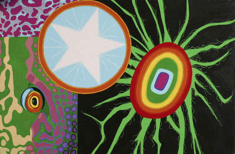 "The Third Eye, acrylic on canvas, 48"" x 72"", 2005"