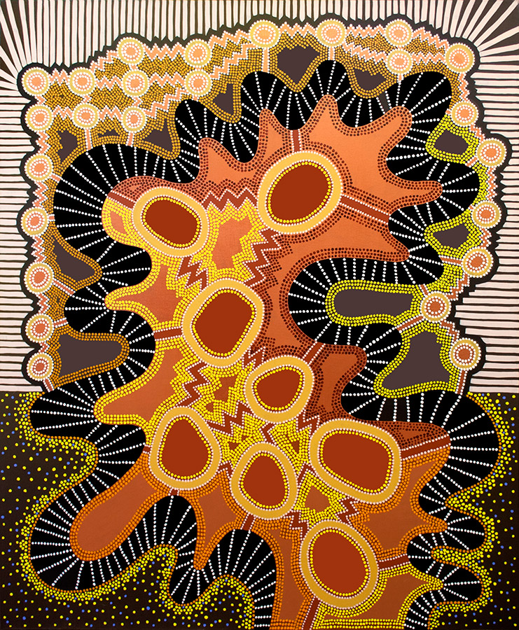 "Energy #1, acrylic on canvas, 72"" x 60"", 2003"