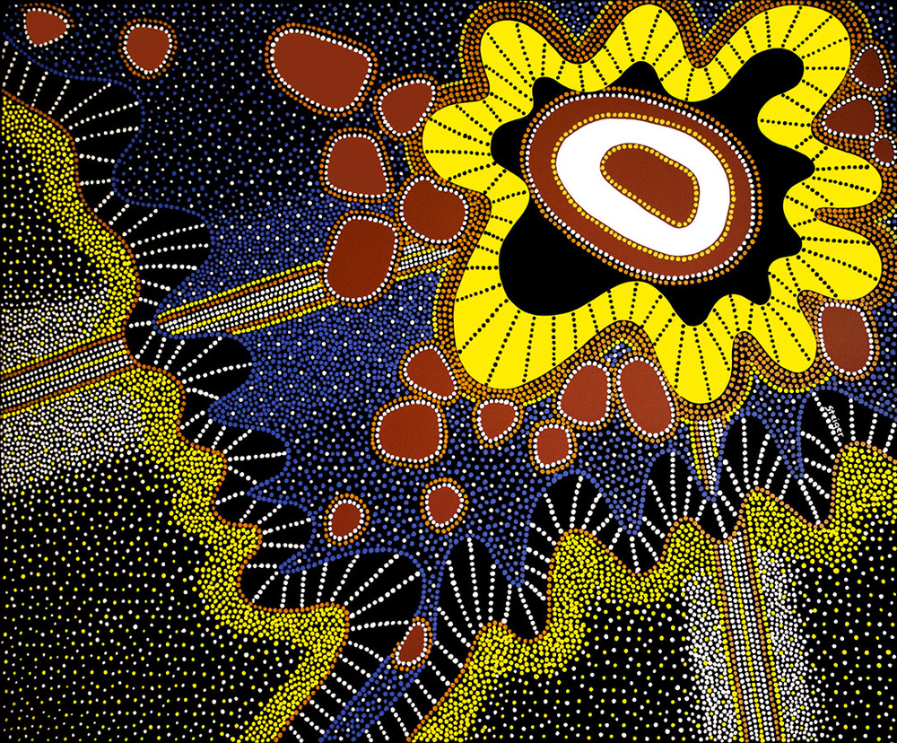 "Chakra, acrylic on canvas, 48"" x 60"", 2002"