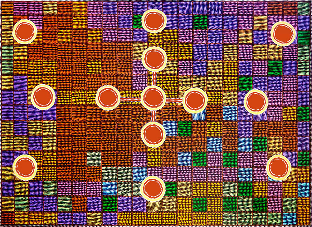 "The Dancing Chakras, acrylic on canvas, 60"" x 84"", 2001"