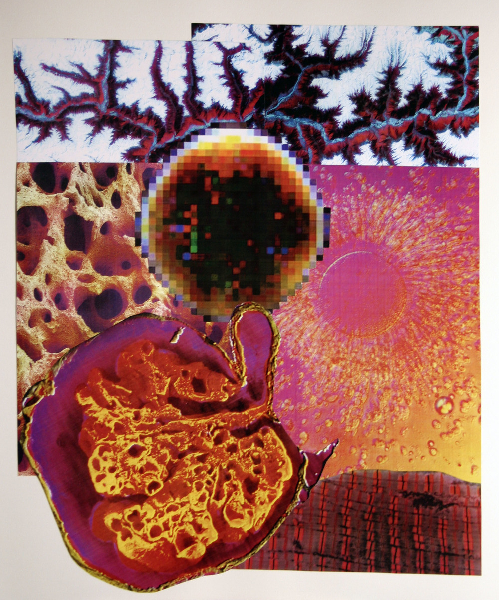 "Magnetic Radiation, collage on paper, 14"" x 17"", 2006"