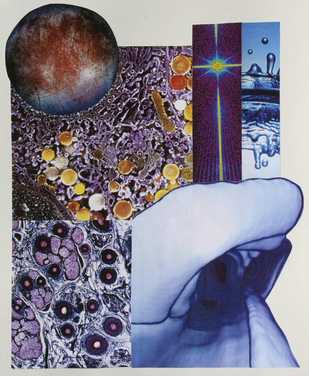 "Not a Drop to Drink, collage on paper, 14"" x 17"", 2006"