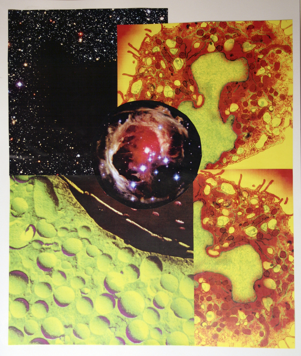 "Galactic Roadmap, collage on paper, 14"" x 17"", 2006"