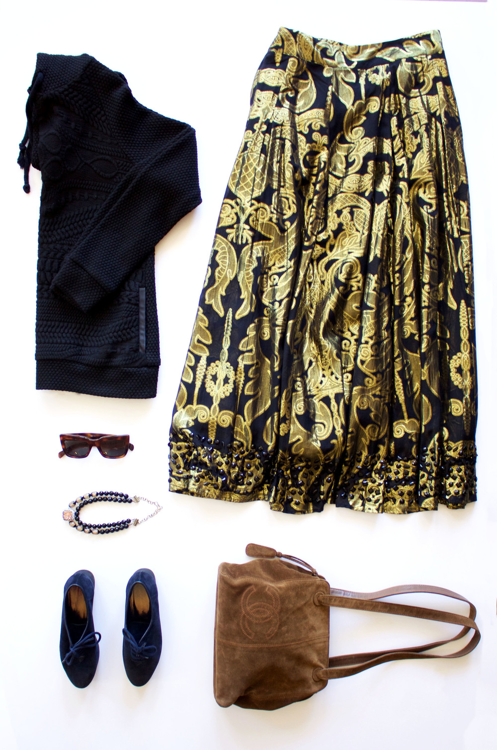 Celine Sunglasses, Yves Saint Laurent Shoes, Chanel Handbag