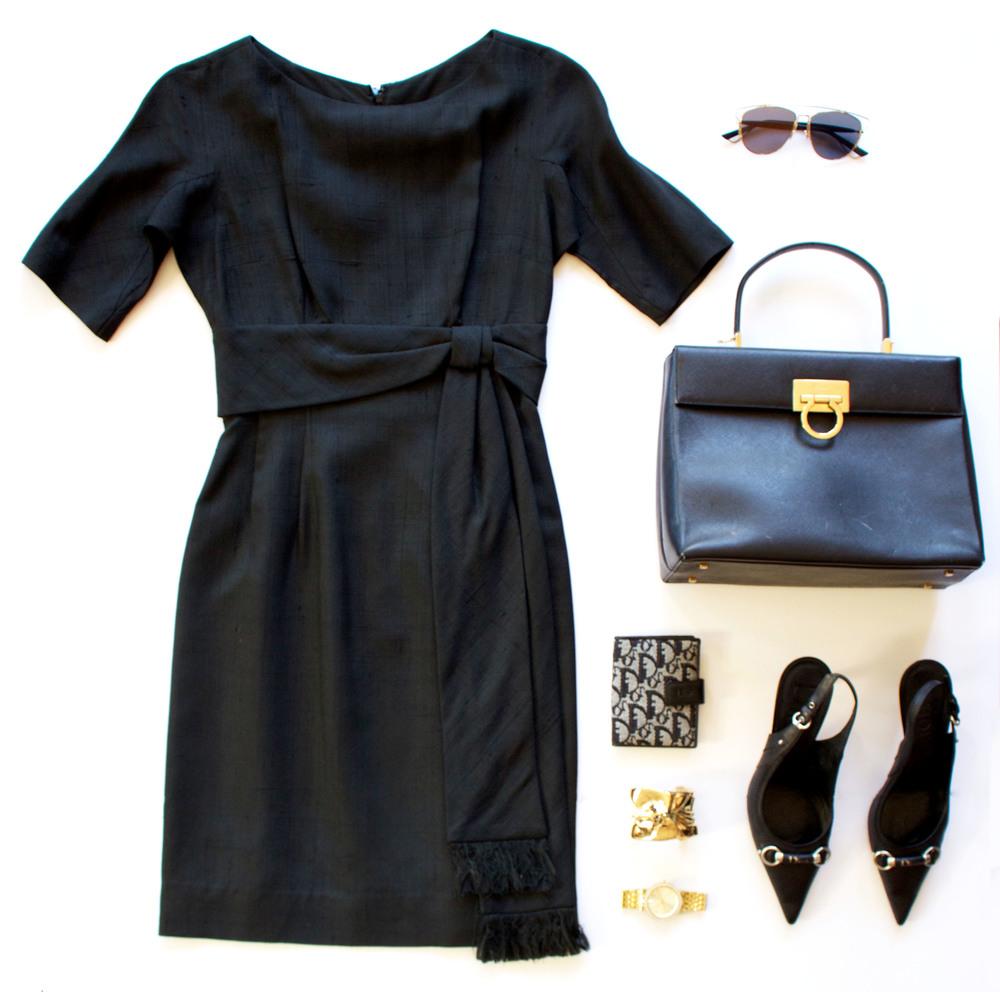 Dior Sunglasses, Michael Kors Watch, Dior Wallet, Gold Cuff
