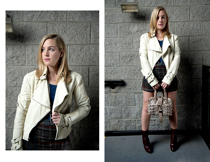 W118 by Walter Baker Skirt, Versace Jacket, Jimmy Choo Bag, YSL Boots