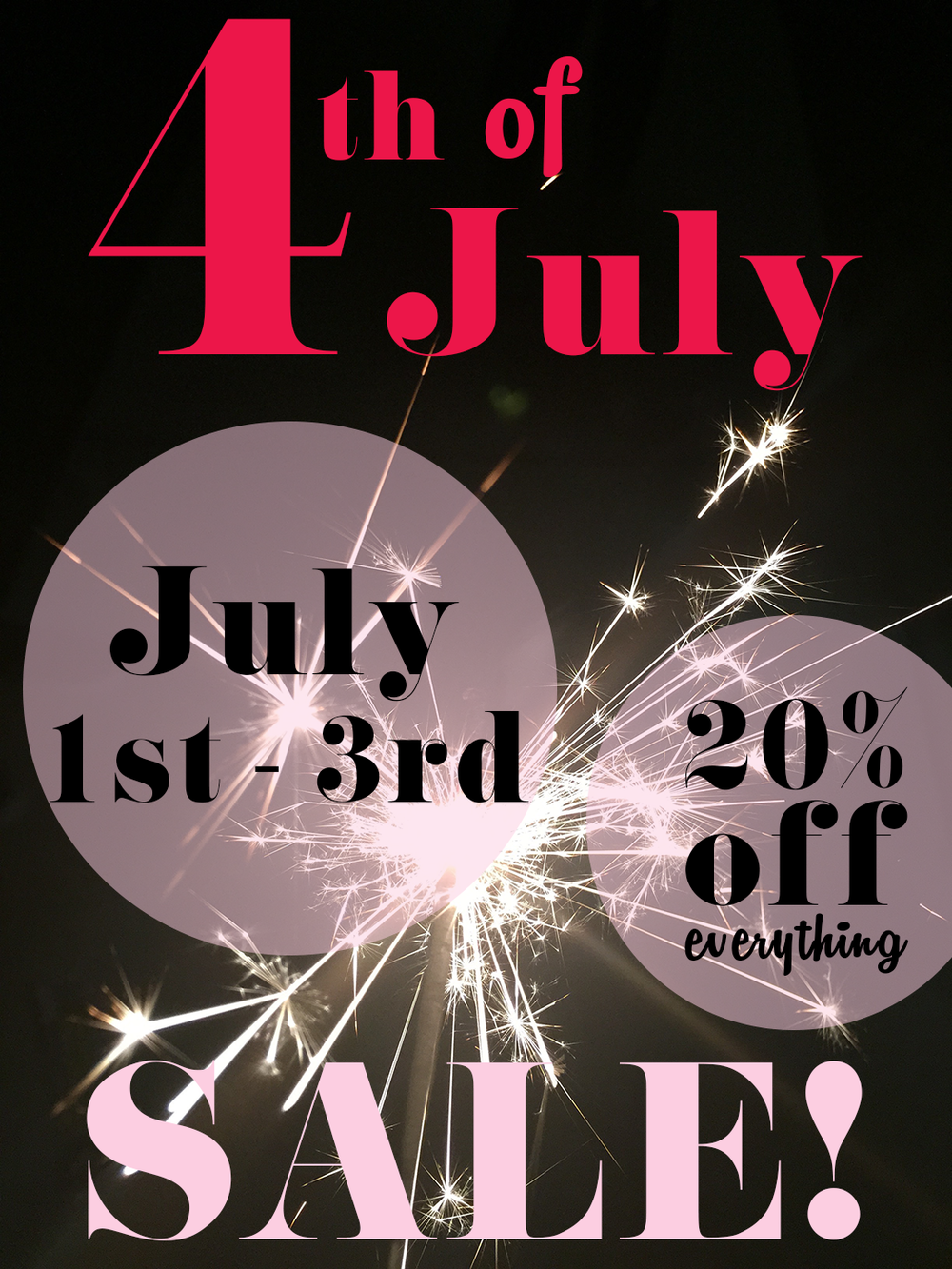 Coupon Code: HAPPY4TH