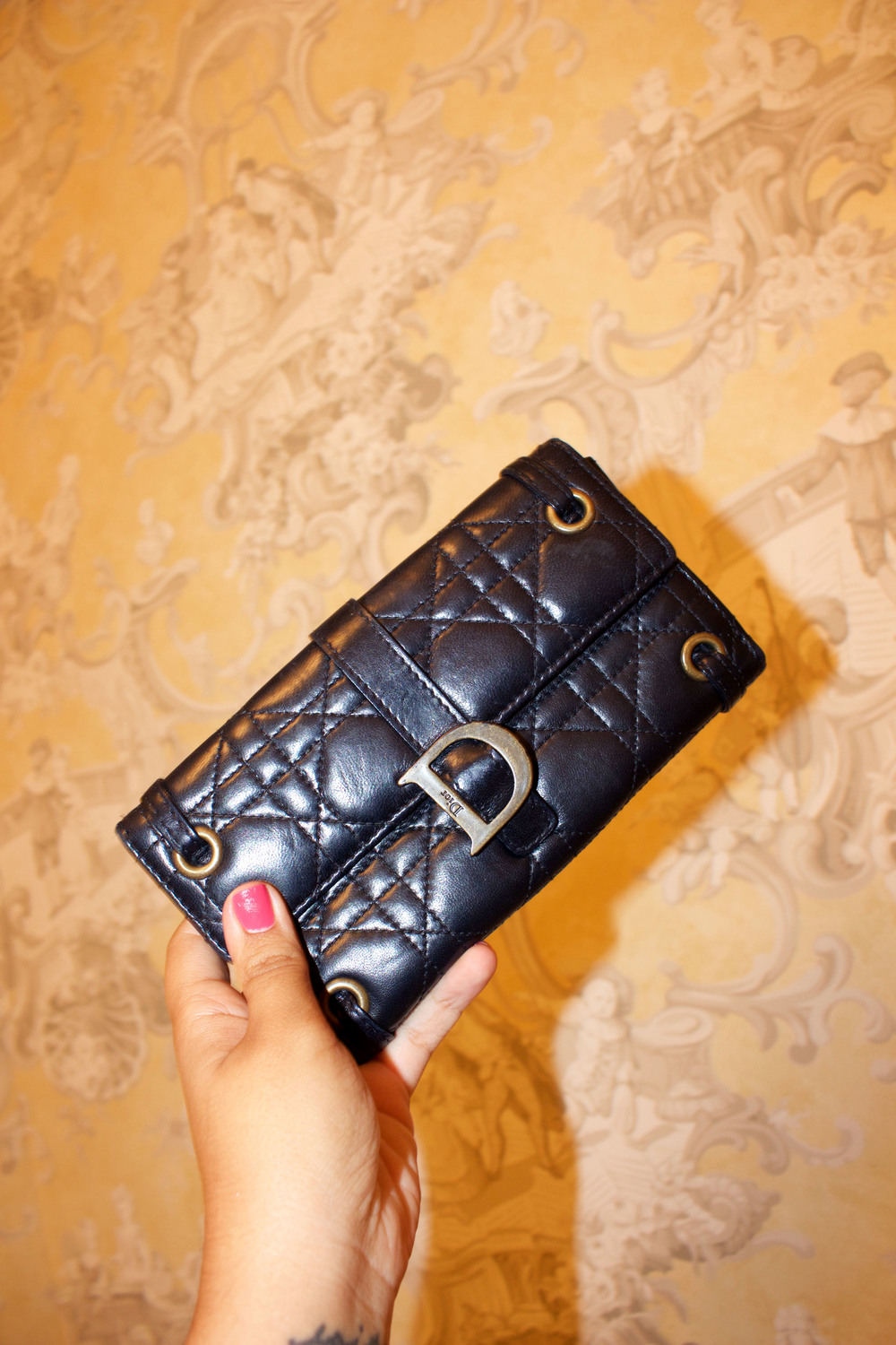 Christian Dior 'Cannage' Wallet
