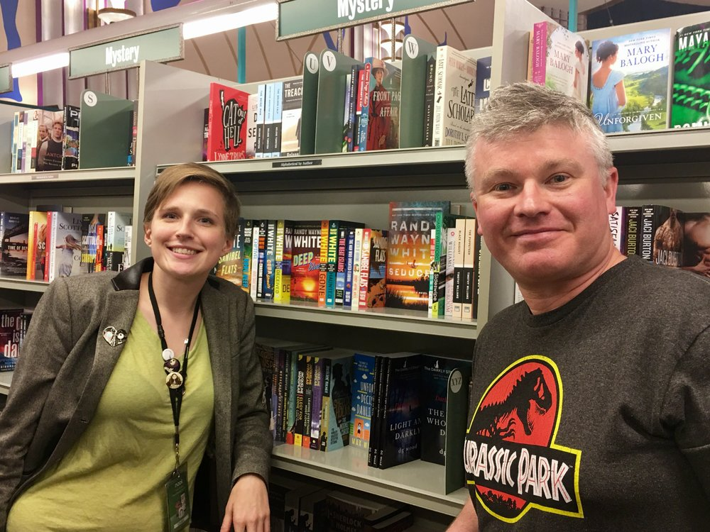 DARKLY on the shelves of Barnes & Noble, Ventura Boulevard, Los Angeles!
