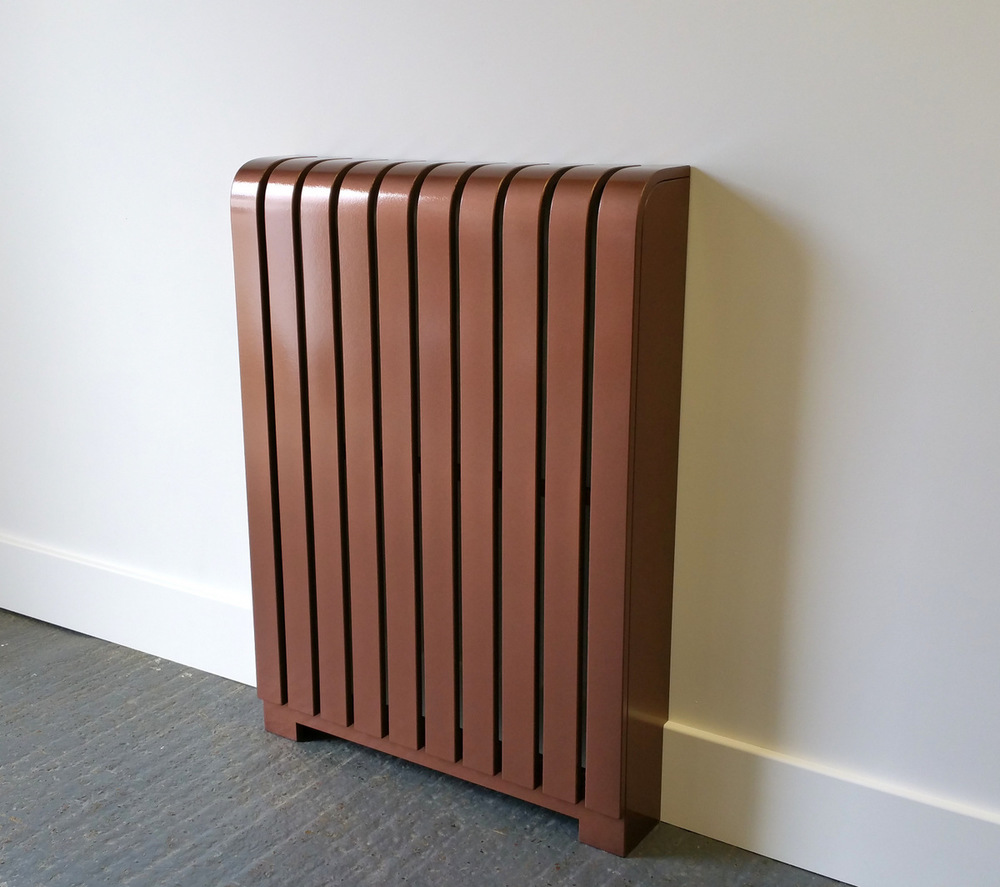 Copper powder coated radiator cover