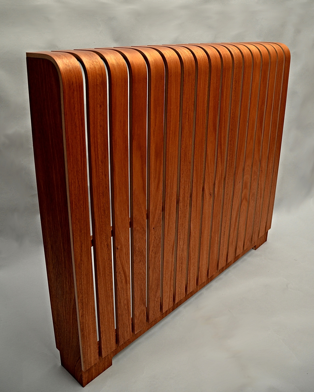 Sapele floorstanding with plinth