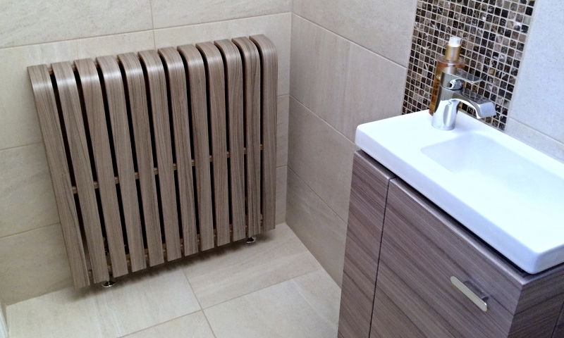 'Driftwood' Laminate Radiator Cover