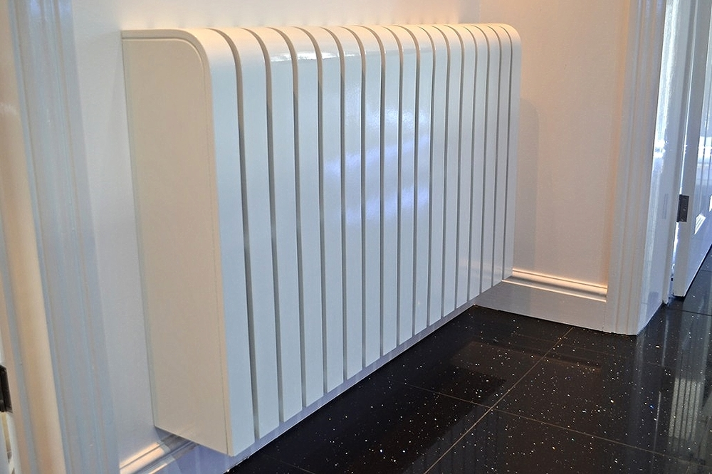 Gloss white radiator cover