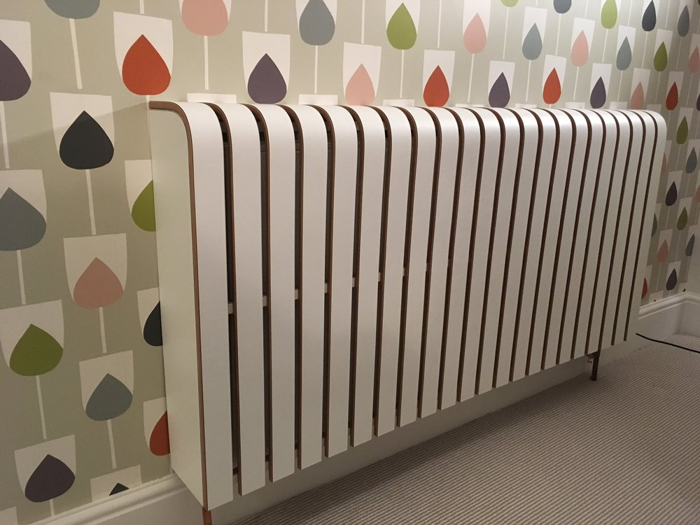 White Laminate Radiator Cover