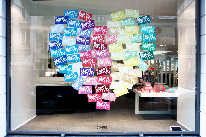 colette window in paris. j'adore. get the details here http://en.colette.fr/content/curtis-kulig/