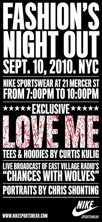 FNO. Nike Sportswear at 21 Mercer Street.