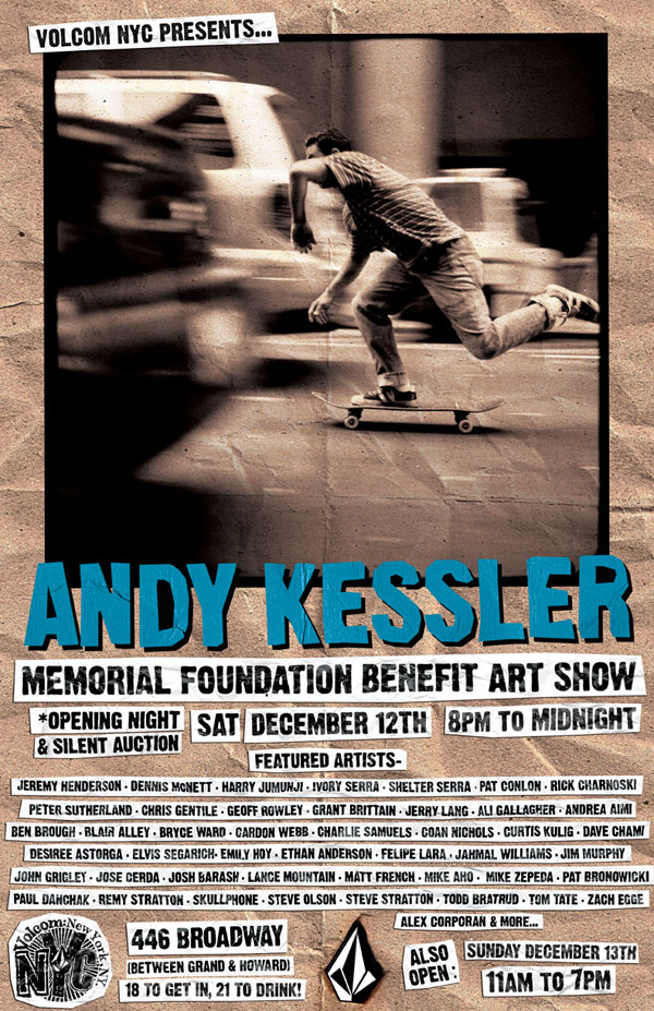 Andy Kessler Memorial Foundation Benefit Art Show featuring Curtis Kulig