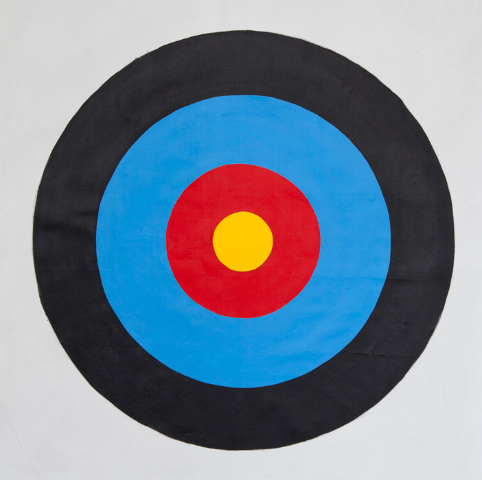 "ACCURACY PAINTING #7.   Acrylic on Linen.   2015. 41.5"" x 42""."