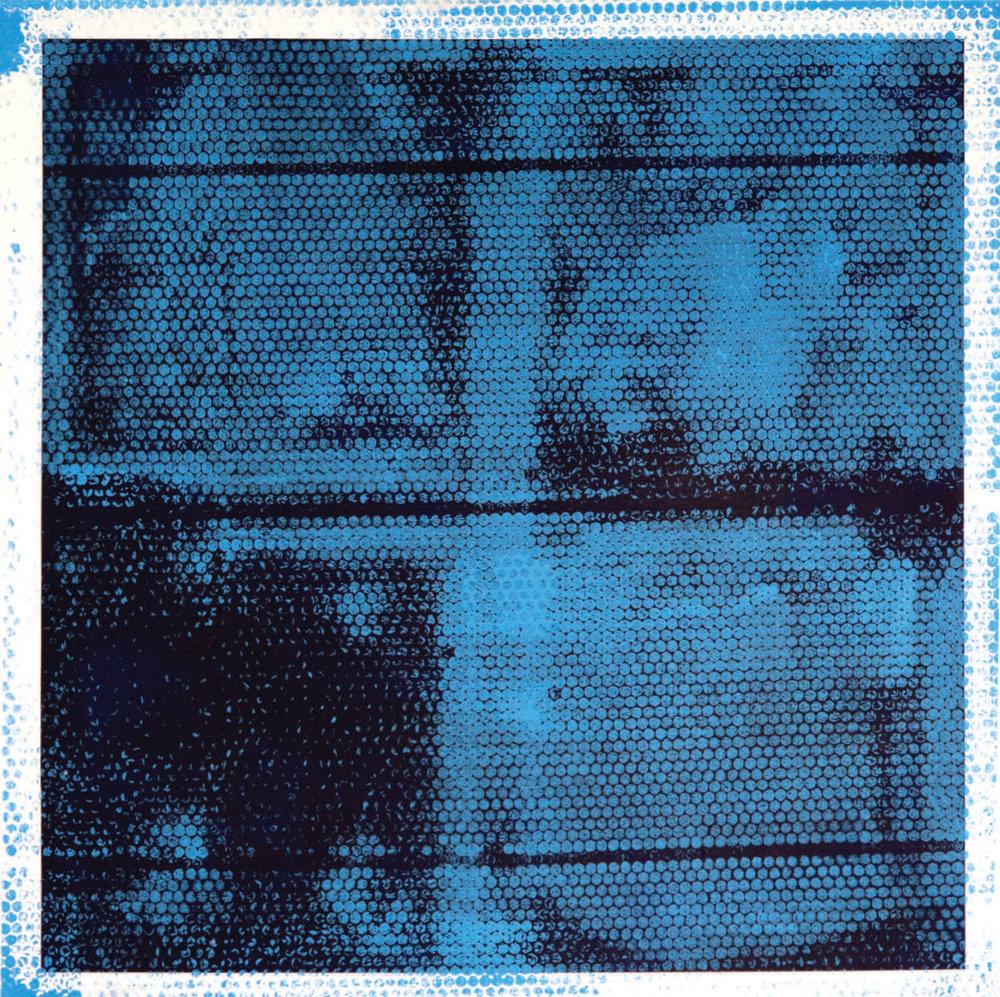 "BATHROOM IN THE BASEMENT LEFT. Acrylic on Canvas.2014. 36"" x 36"""
