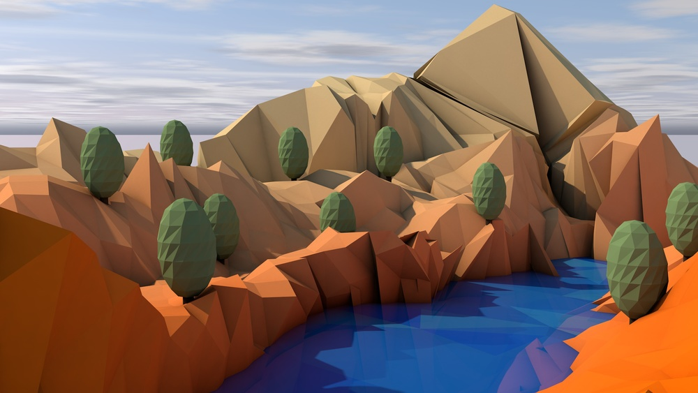 This was actually my first low-poly environment design and was nothing more than an experiment, but I include it to show my growth over such a short period of time.