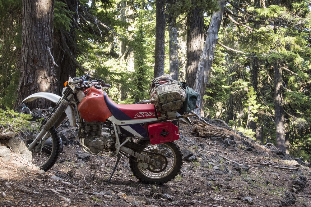Multi day moto camping through the mountains of Central Oregon with Dave Reuss