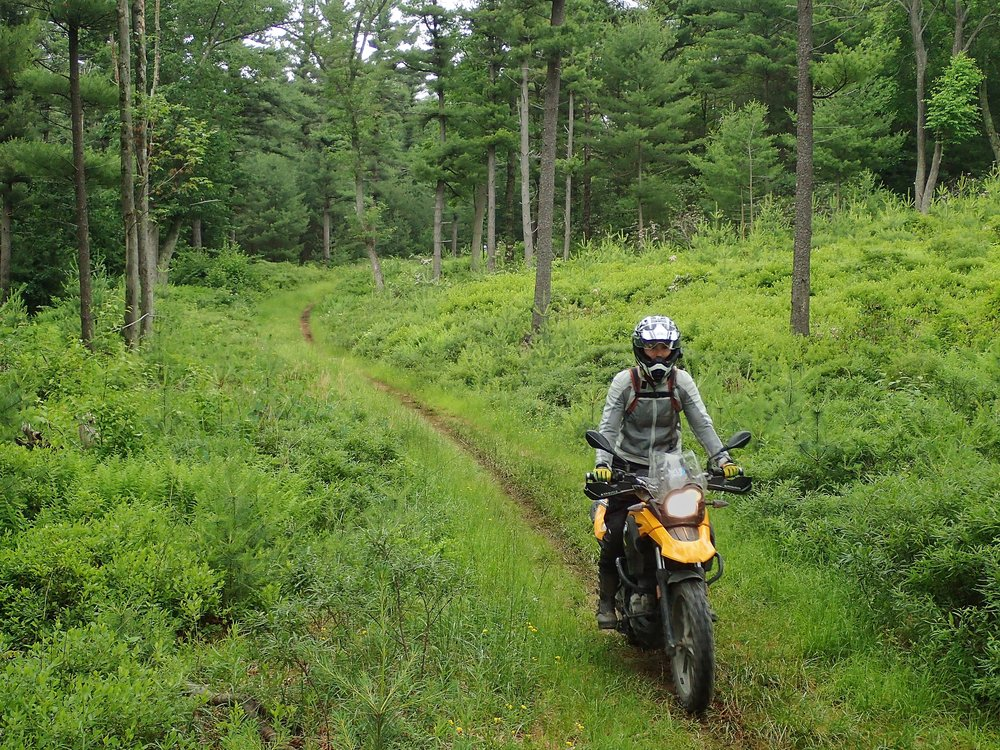 The early days of off-road for me in Bald Eagle State Forest, PA on my BMW 650GS.