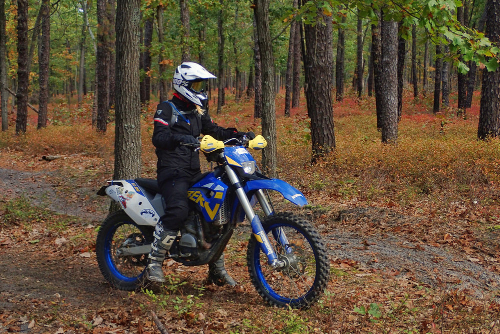 Recent riding in the Pine Barrens of New Jersey testing out the new REV'IT! Gear.