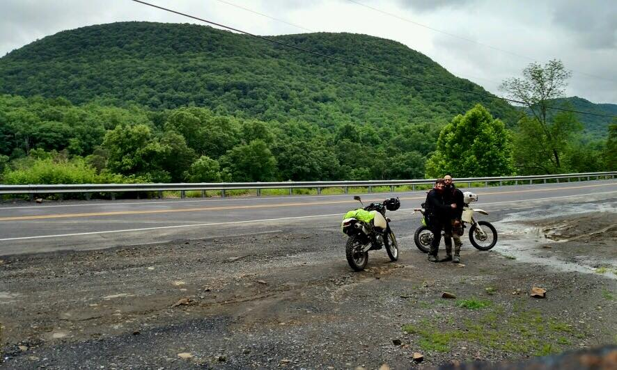 Adam & I riding through Pine Creek Gorge, The Grand Canyon of Pennsylvania.