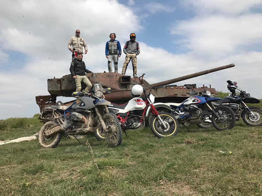 Friends, and a bunch of old tanks!