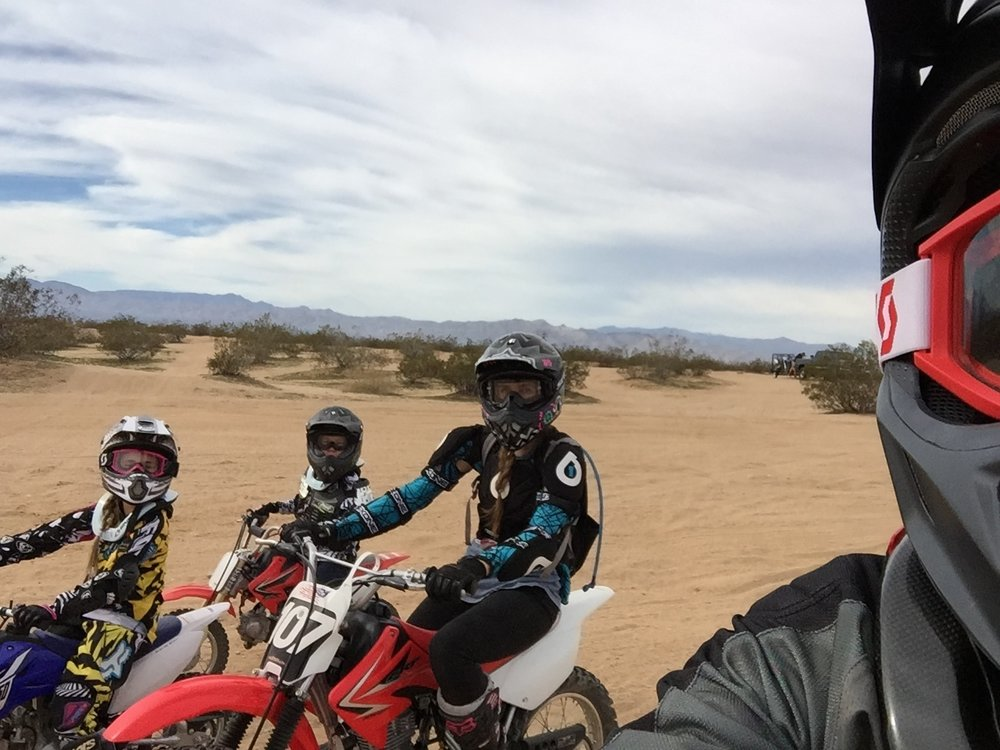 Dirt biking family
