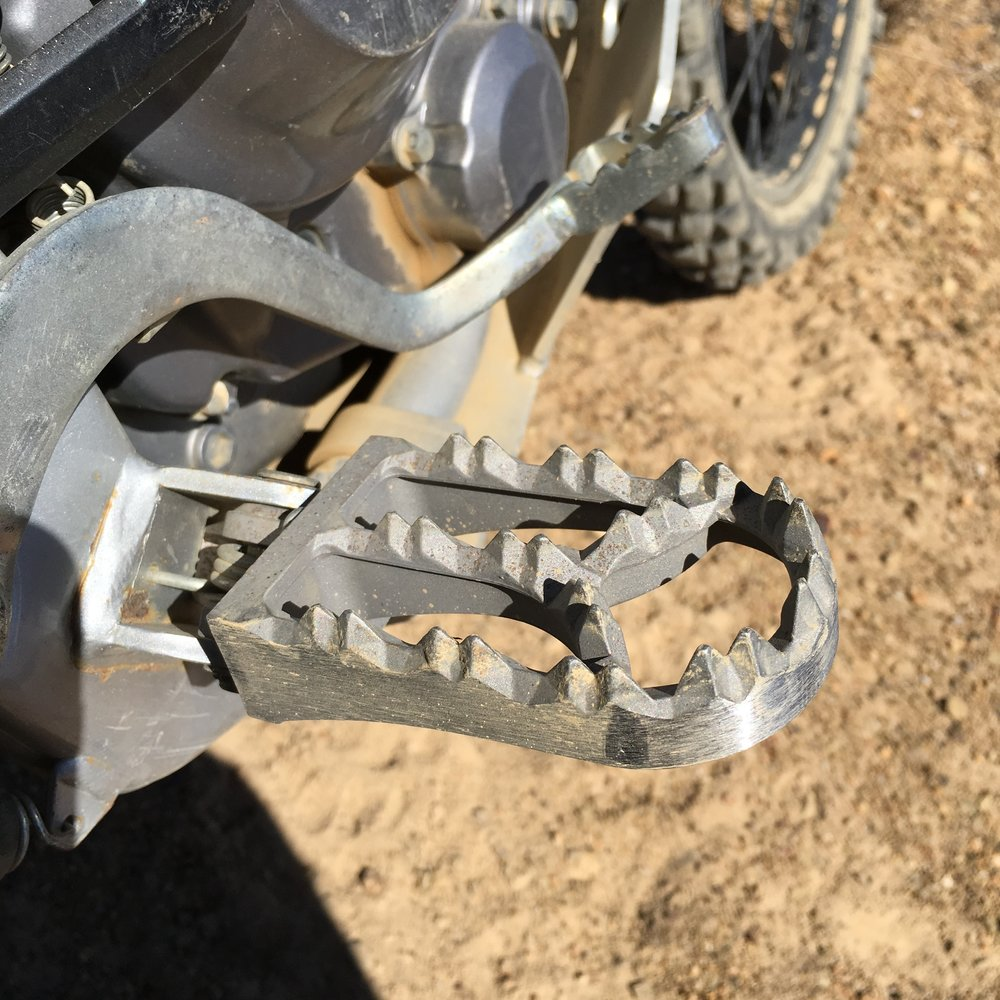 Can't imagine riding without my  IMS Footpegs , they take comfort and stability to a whole new level.