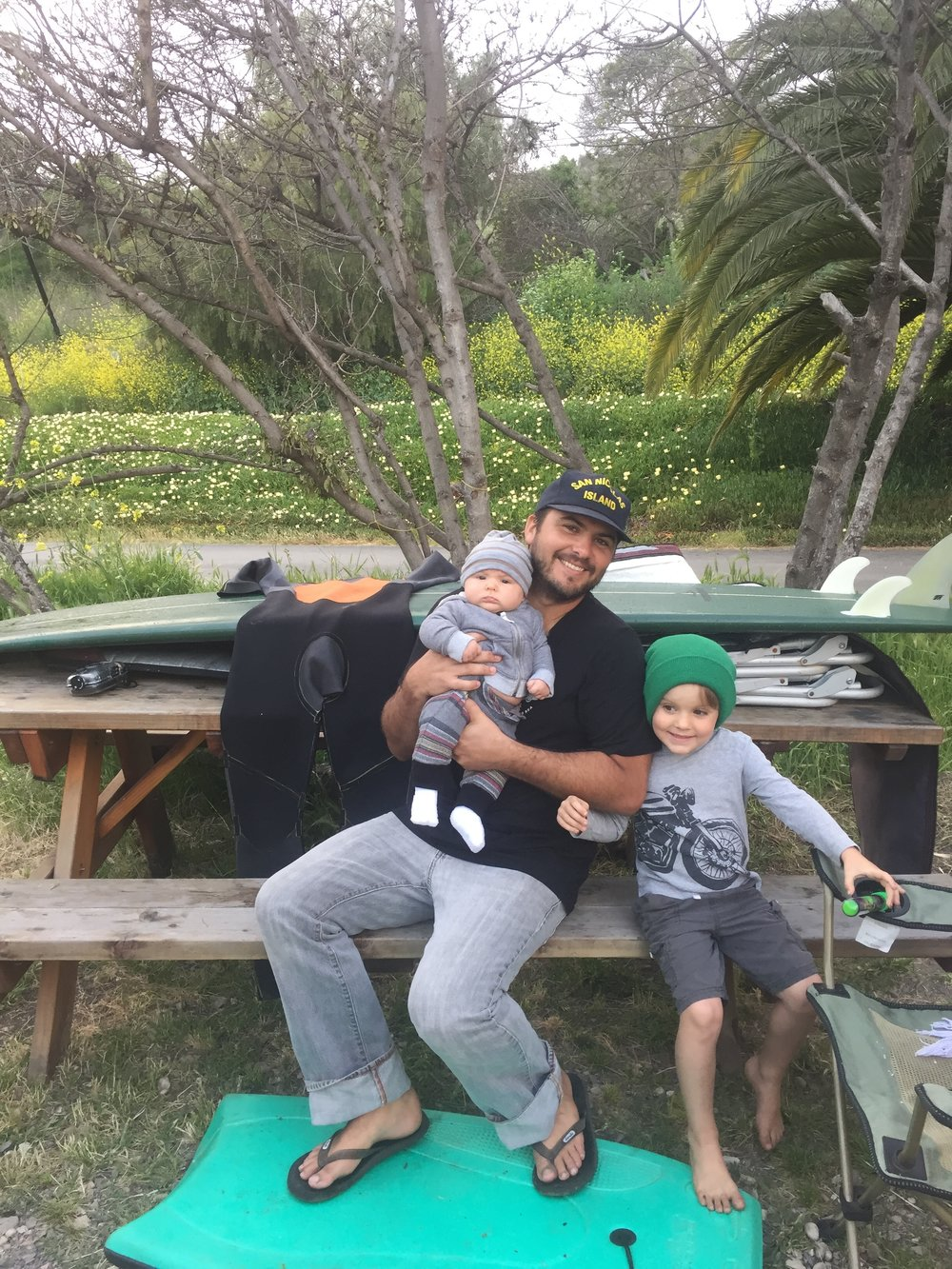 Camping with my boys.
