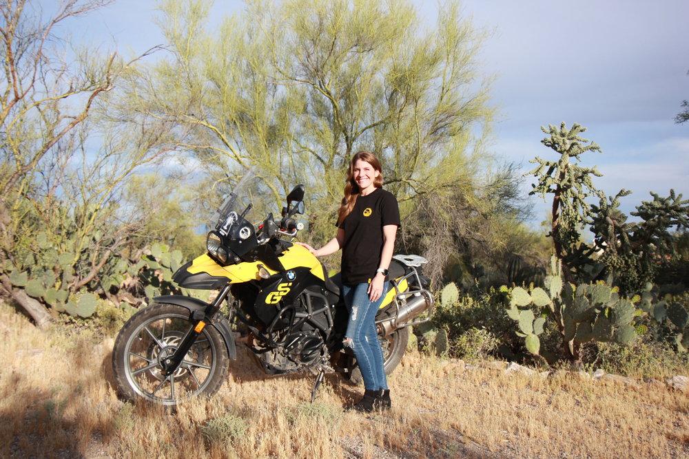 Photo Taken in Arizona with Betty my Bumblebee BMW f650 GS