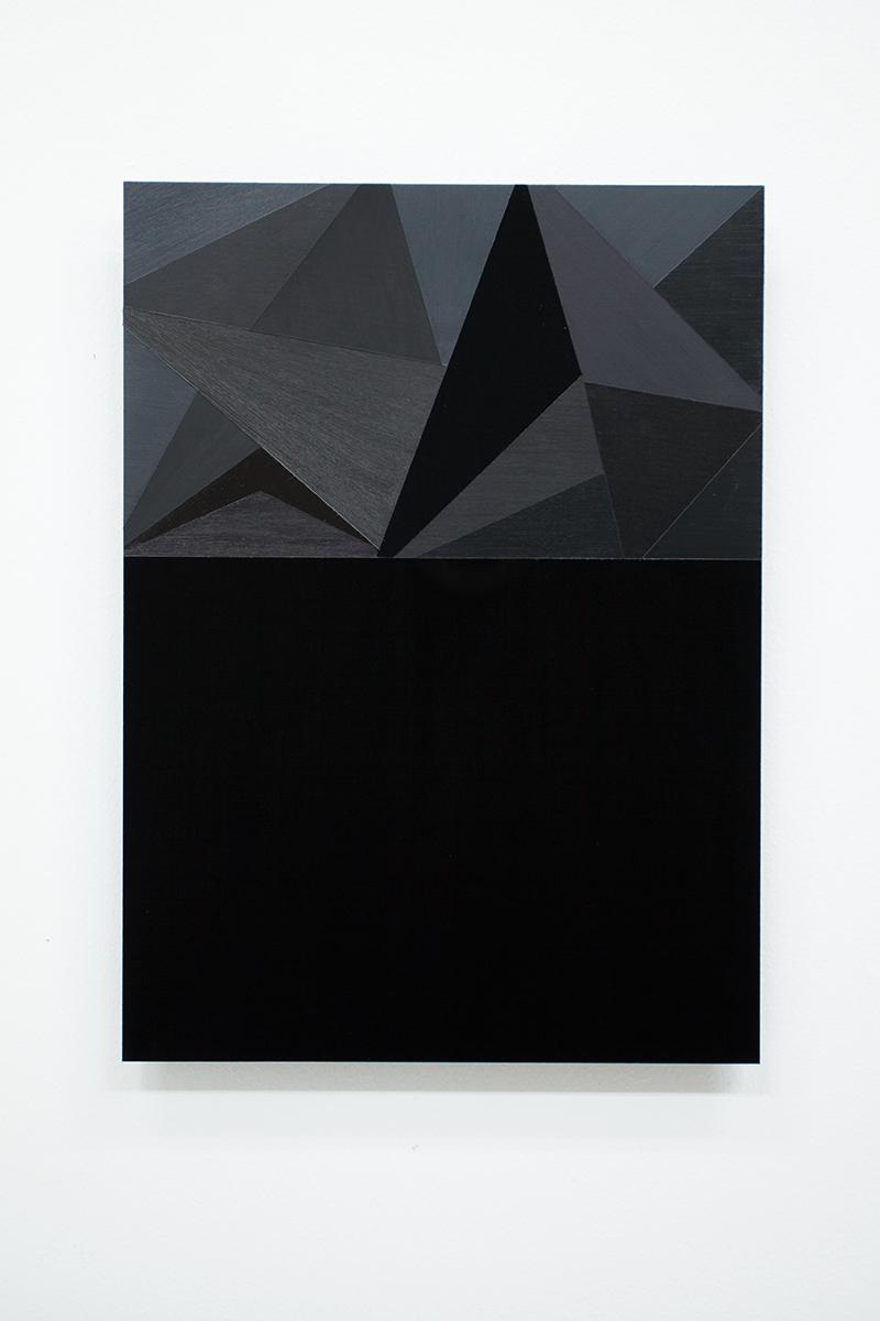 Black Letter #67 (to Elli Hemberg ) Acrylic on black perspex, 29,7 x 21 cm 2014