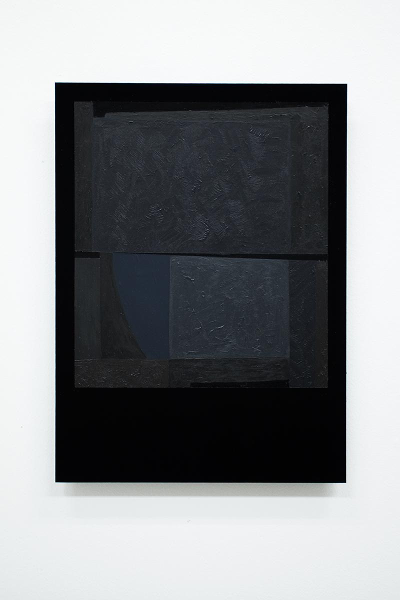 Black Letter #60 (to Lars Tiller)  Acrylic on black perspex, 29,7 x 21 cm, 2014