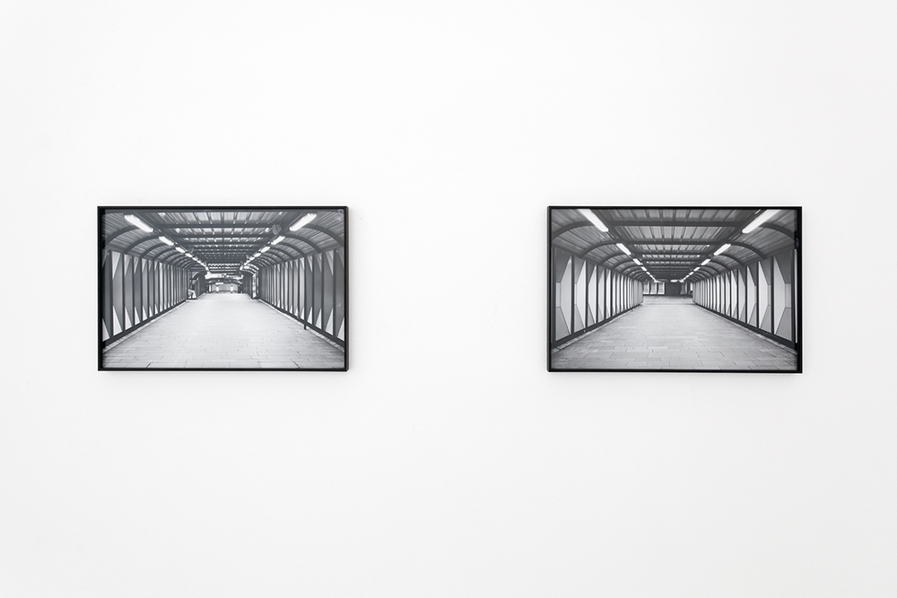 Grayscale ( documenting architecture ) #2  and #3 Installation view Kristiansand Kunsthall, 2015