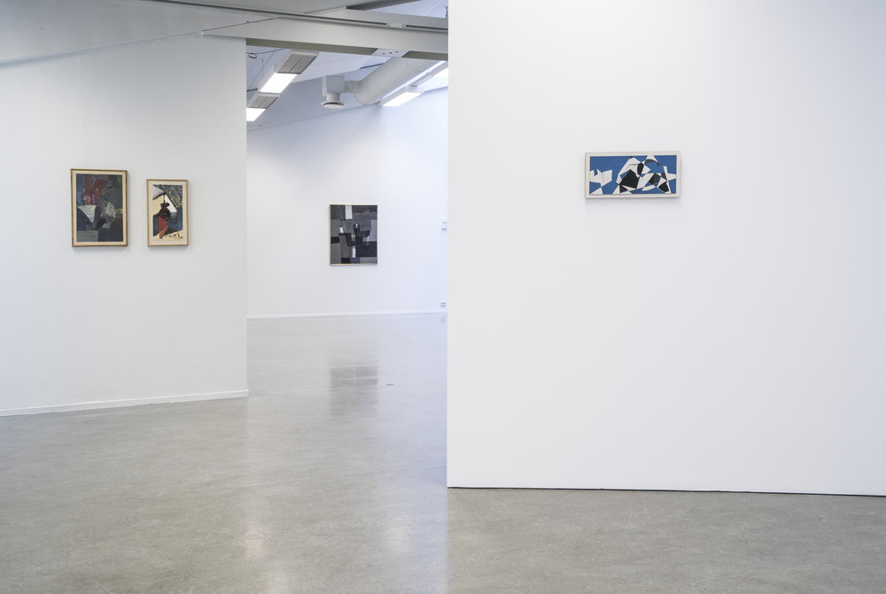Installation view From left: Jakob Weidemann, Roar Wold, Jakob Weidemann