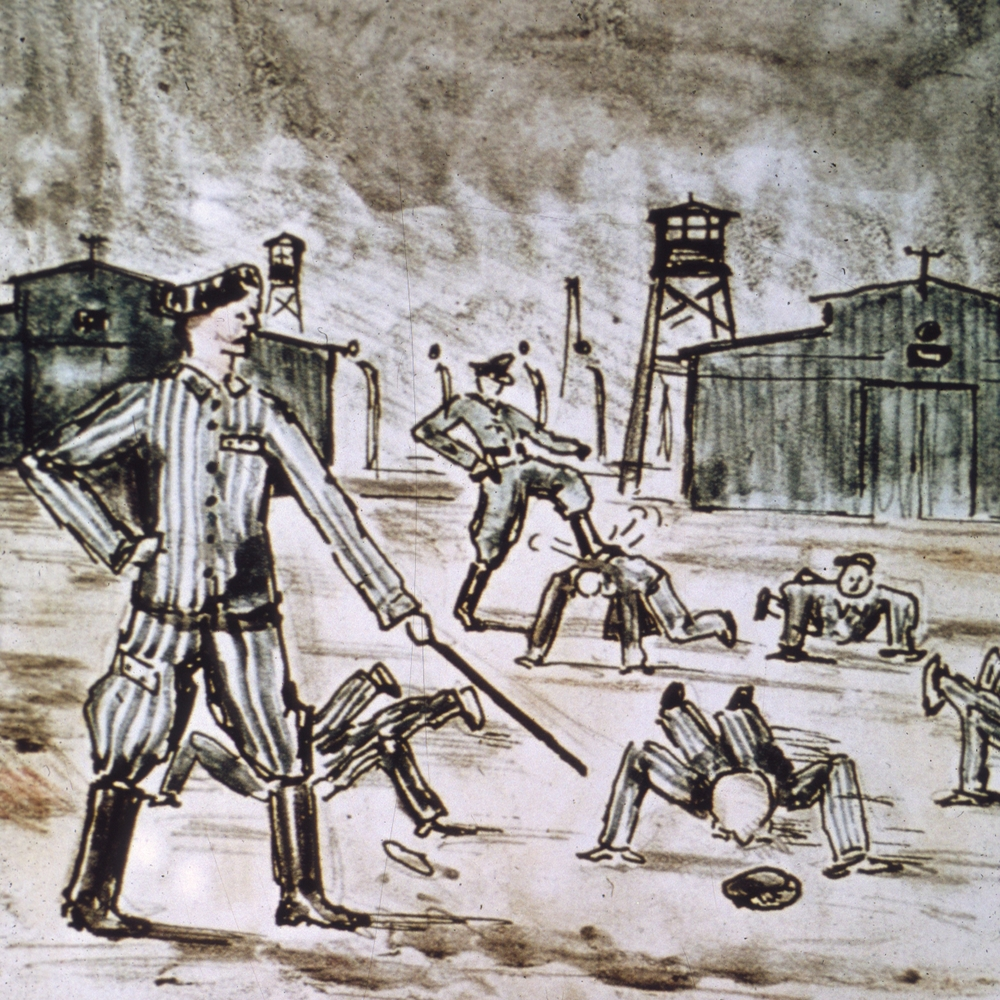 Alfred Kantor's Nazi concentration camp drawing