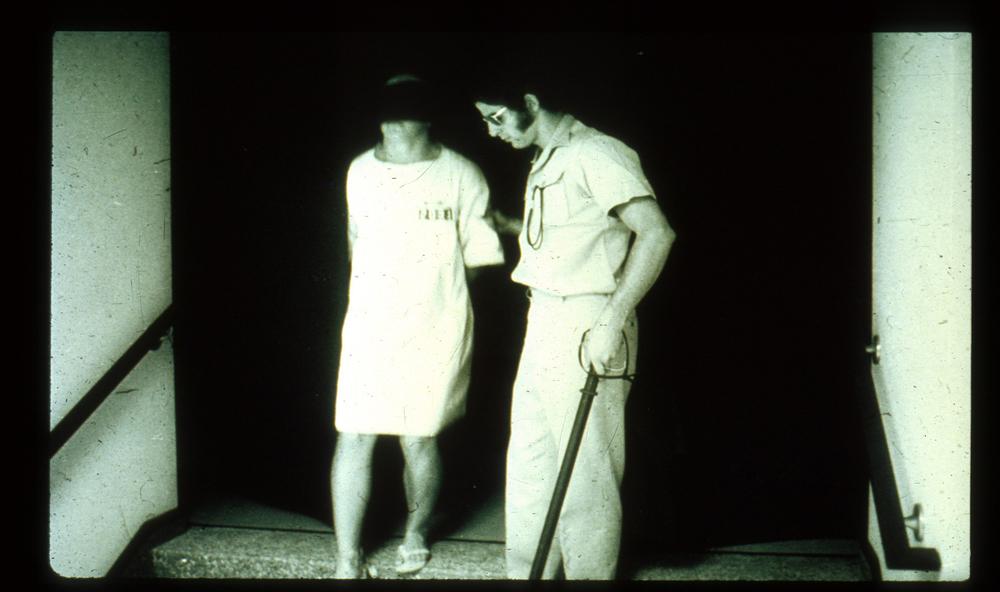 Walking Blindfolded Prisoner