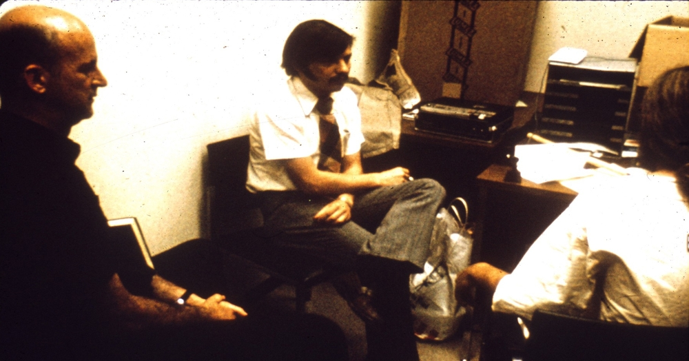 Chaplain Talks with Prisoner