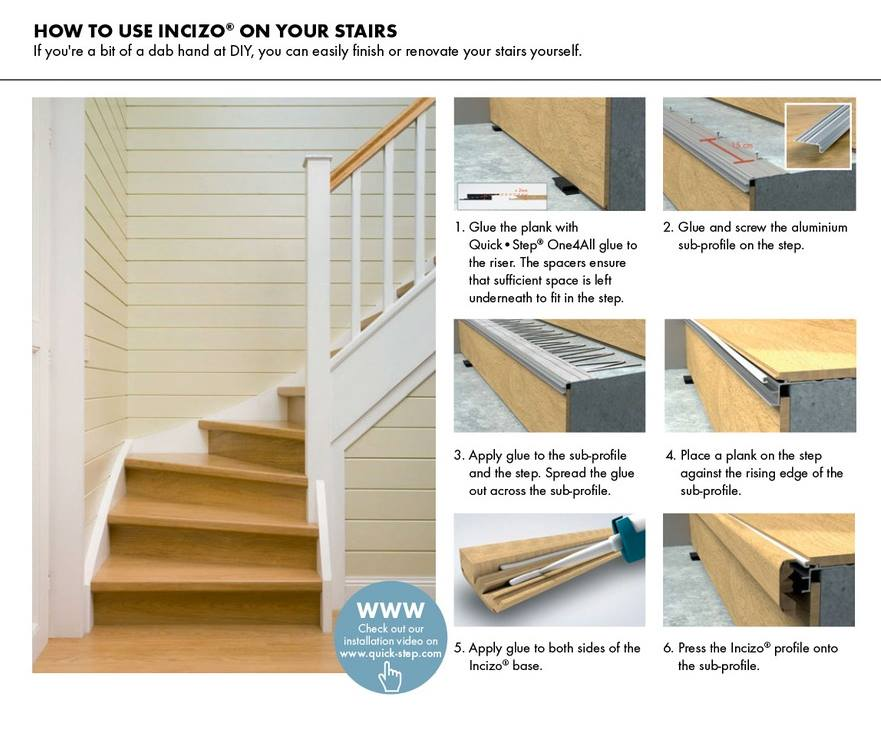 Quick Step Stair Renovation Leaflet