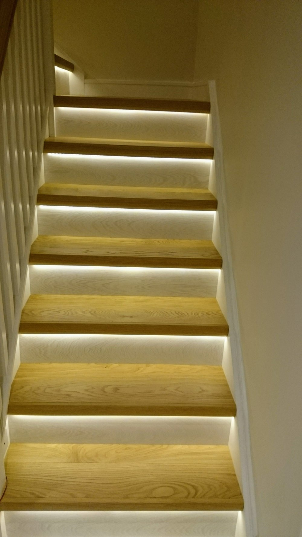 www.bargainflooring.ie presents Quick-Step stairs with LED lighting in Parkside , Clongriffin , Dublin 13