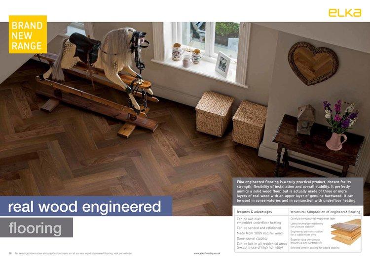 14mm Real Wood Engineered Herringbone Dark Smoked Oak Bargain Flooring