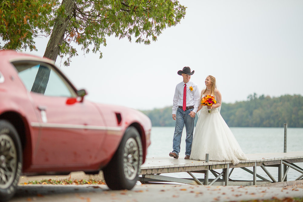 Door County wedding in the fall.