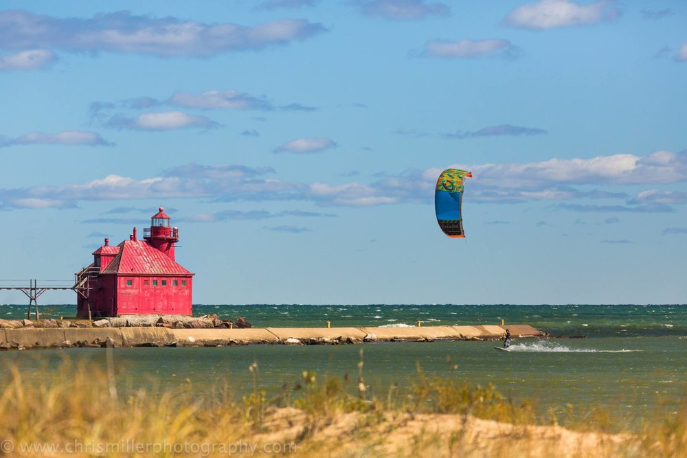 Door County kitesurfer!