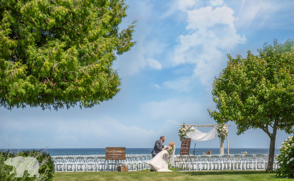 An amazing day to be a door county wedding photographer!